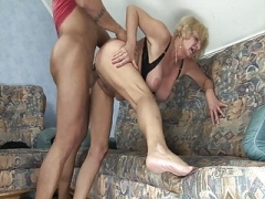 Granny fucked by aroused stepson