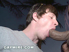 GAYWIRE - White Boy Clayton Afraid Of Castro Supreme's big black cock