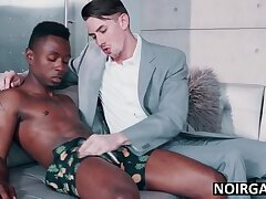 Black guy fucks his wife's boss - bbc gay interracial sex