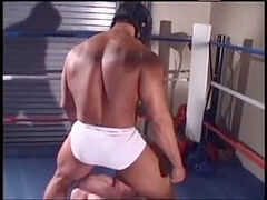 large lubricated-up bodybuilders pulverizing