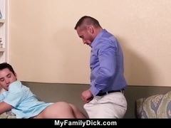 Drunk Step Dad Forcefully Fucks His Twink Son