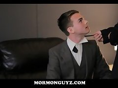 Mormon Twink Seduced By Church Daddy & Recorded By Stranger In Mask