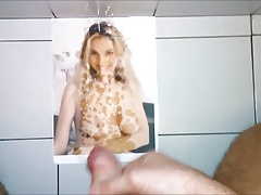 11 spurts cum tribute for Selen (former italian pornstar)