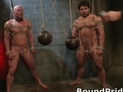 Brenn and moreover Chad in extreme gay bondage