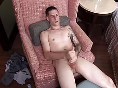 ActiveDuty Tall Straight Army Bro Jerks his Long Cock