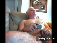 LikeAOlder Grandpa 66 y d jerking and playing with his