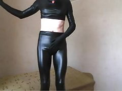 Sissy soska show in leather on webcam 2