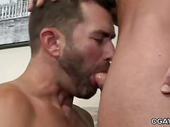 Jake fucks passionately Josh's golden ass