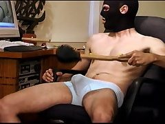 Watch as my hot stocky man  punishes his own balls in this self CBT session.