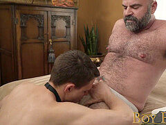 BoyForSale - Little sub stud nailed raw by dominant daddy muscle bear