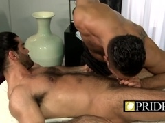 Massage boy has tongue skills to finish that rod off
