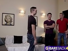 Going anal in a gay foursome feels the best of all