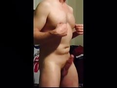 Dancing white cock
