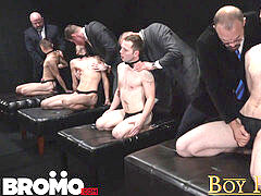 BoyForSale - hump - 4 boy slaves and 4 Dom daddies pulverize sans a condom