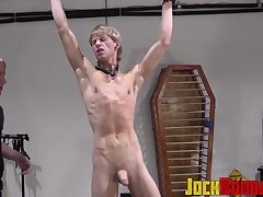 Toned up submissive twink loves getting whipped during sex