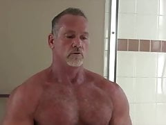 Daddy MICKEY COLLINS' Shower: HARD NIPPLES-NICE HOLE-HJ-CUM