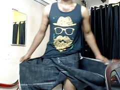 Tamil man Dinesh masturbation in room 1