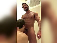 Arab nailing in the shower
